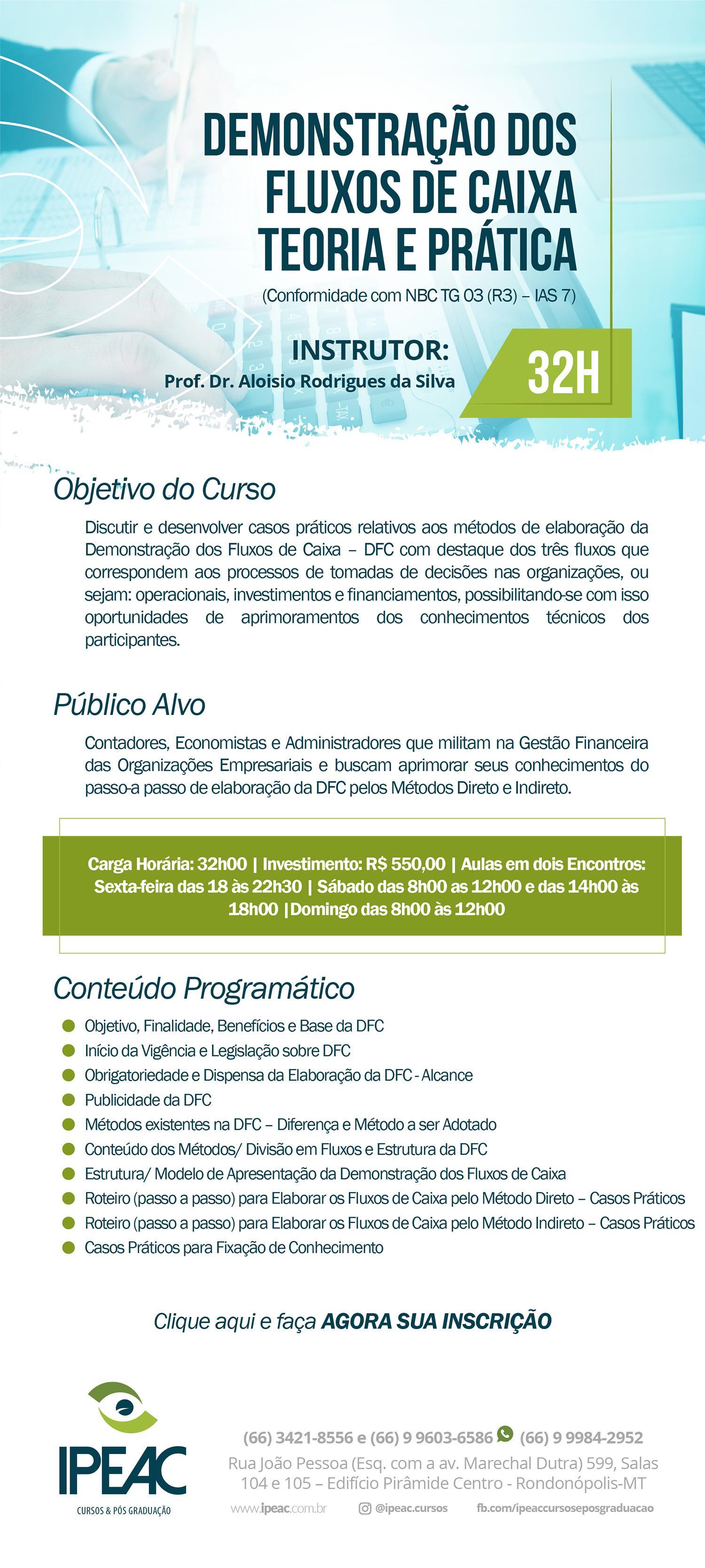 DEMONSTRAÇÃO DE FLUXO DE CAIXA - TEORIA E PRÁTICA